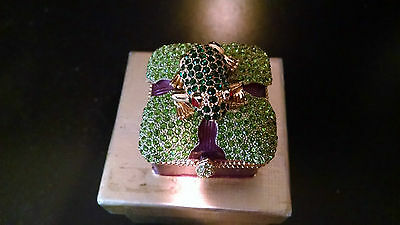 New In Box Rhinestone Frog Trinket Box Absolutely Adorable ~~~~