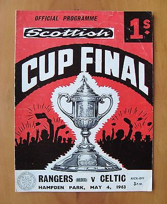1963 Scottish Cup Final CELTIC v RANGERS *VG Condition Football Programme*