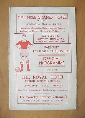 BARNSLEY v DONCASTER ROVERS 1952/1953 *Good Condition Football Programme*