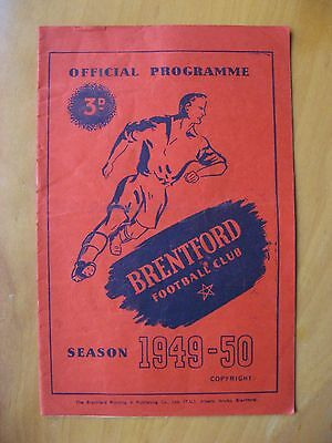 BRENTFORD v CHELSEA FA Cup 1949/1950 *VG Condition Football Programme*