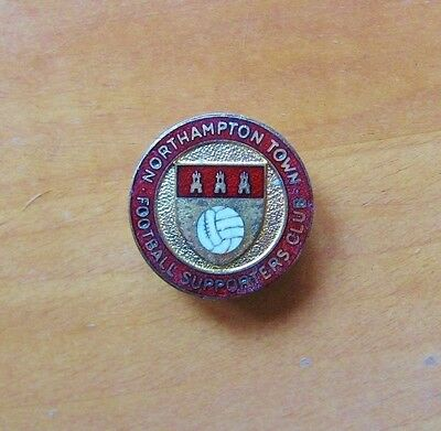 """NORTHAMPTON TOWN - """"Supporters Club"""" Vintage Enamel Football Pin Badge By Firmin"""