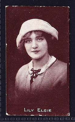 R & J Hill ACTRESSES - CHOCOLATE (TOBACCOS) 1917 Lily Elsie *Good/VG Condition*
