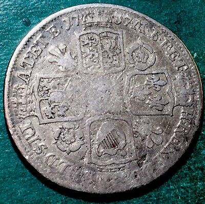 GB . King George II . 1737 . Shilling . Nice Coin.