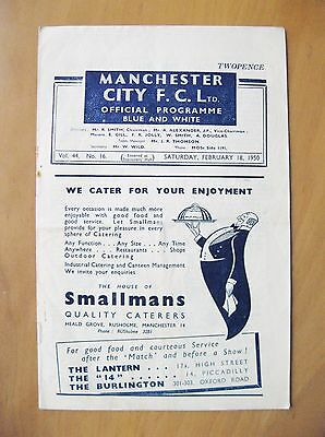 MANCHESTER CITY v MIDDLESBROUGH 1949/1950 *Good Condition Football Programme*