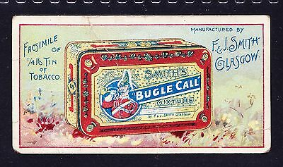 F & J Smith ADVERTISEMENT CARDS 1897 Bugle Call Mixture *Good Condition*
