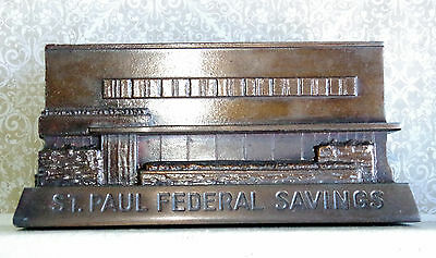 Vintage Bathrico Bank St. Paul Federal Savings - North Avenue Chicago Illinois