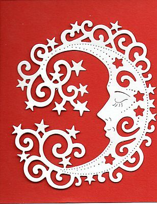 New Sweet Dixie Moon & Stars Silhouette  Die Cuts - -Christmas Topper Baby