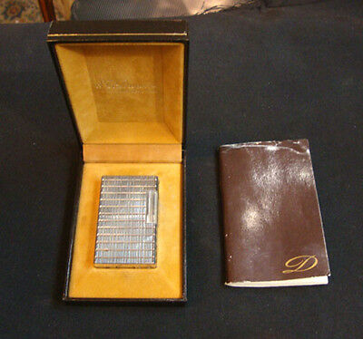 S.t. Dupont Lighter With Box And Book