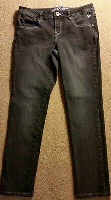 Justice Simply Low Size 10.5 girl's Black Jeans...EUC