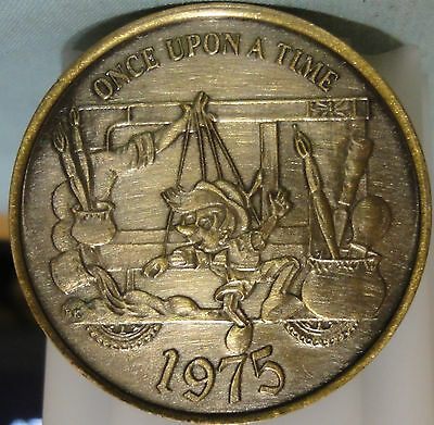 1975 Mobile,Al.~Mystics of Time~Mardi Gras Brass Doubloon ~ONCE UPON A TIME