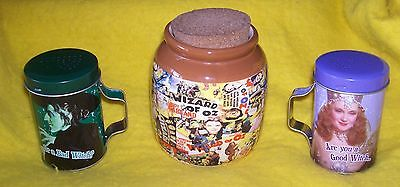 Lot of -The Wizard of Oz Jar(With Corkscrew Stopper)  & Salt -n- Pepper Shakers