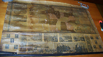 """1846 Antique Ensigns United States Of America Wall Map Us Usa 41""""w X 28""""h"""