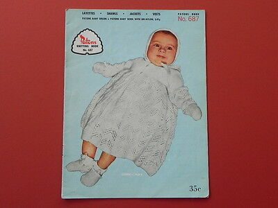 Vintage Patons Knitting Book - No 687