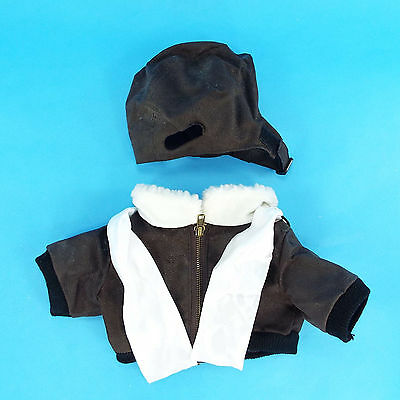 Build a Bear Clothes Clothing Pilot Bomber Jacket with Scarf & Hat