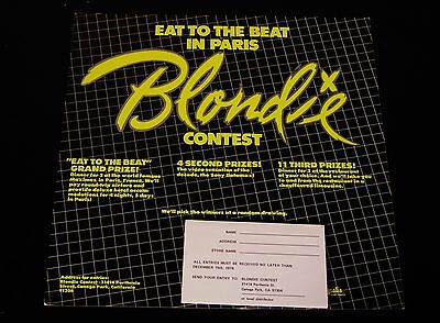 Blondie-Eat To The Beat In Paris-RARE 1979 Contest Record Store Display-Complete