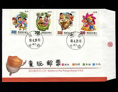 OPC 1991 Rep of China Taiwan Childrens toys FDC Sc#2790-3 Unaddressed