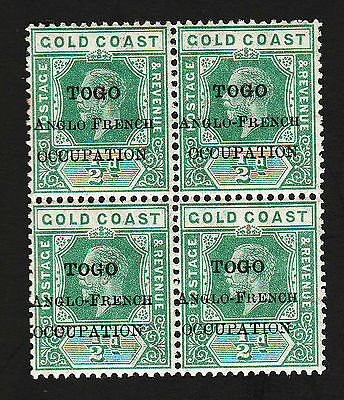 OPC 1916 Togo Overprint Error No Hyphen Upper Left Sc#80 MNH