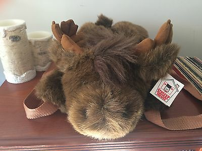 The Stuffed Animal House Moose Backpack Vintage 18inches NWT