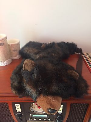 The Stuffed Animal House Brown Bear Backpack Vintage 18inches