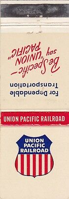 Union Pacific Railroad Matchbook Cover.