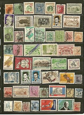 Uruguay 51 Old Used Stamps