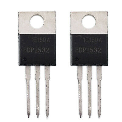 2 pcs FDP2532 TO-220 N-Channel Power Trench MOSFET New