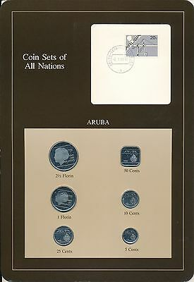 Aruba 1988 6 coin set