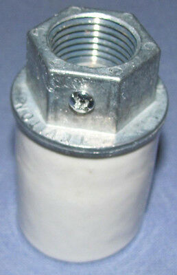 """New Porcelain Light Socket For Any & All Visible Gas Pumps With 1/2"""" Conduit"""