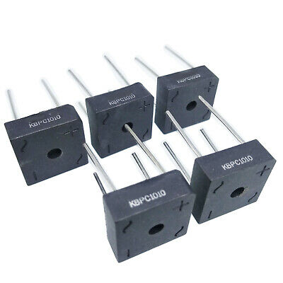5 pcs 10A 1000V Metal Case Bridge Rectifier SEP KBPC1010 New