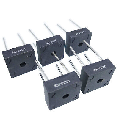 US Stock 5pcs 10A 1000V Metal Case Bridge Rectifier SEP KBPC1010