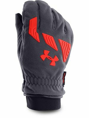 Men's Under Armour Cold Gear Infrared UA Storm Convex Glove Black/RED SZ X-LARGE