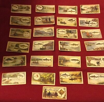 Cigarette Cards - Angling Theme - Full Set Of 25