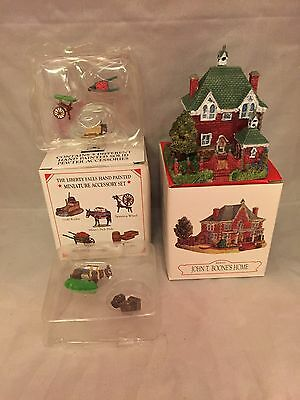 Liberty Falls 1998 John T. Boone Home, 5 Pewter Figures in Original Boxes