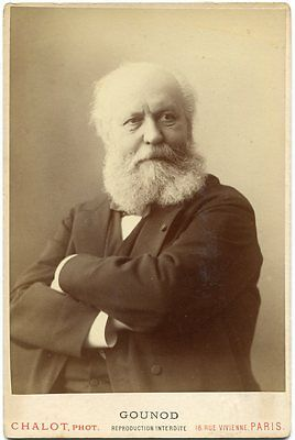 Charles Gounod French Opera Composer Ave Maria Faust 1880s Cabinet Card Photo