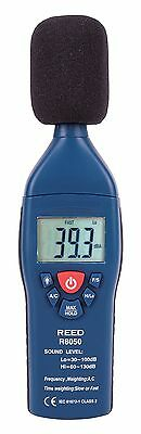 REED Instruments R8050 Sound Level Meter, Type 2, 30-100 and 60-130dB, +/-1.4 d