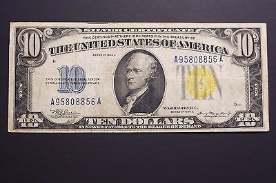 1934A  $10 Wwii Emergency Issue Silver Certificate (North Africa)