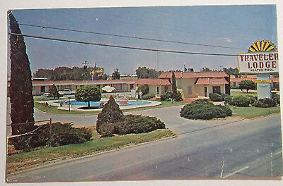 1960's Photo Postcard The Travelers Lodge Highway 80 East Odessa Texas