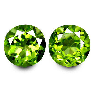 3.40cts NATURAL EARTH MINED RARE HUGE AAA GREEN PERIDOT ROUND CUT FROM PAKISTAN