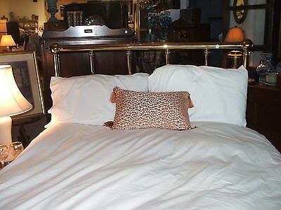 Full Double Bed Headboard Brass Vintage Standard Polished