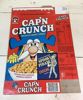 1970s Cap'n Crunch vintage cereal box * Spooky Pirate offer *
