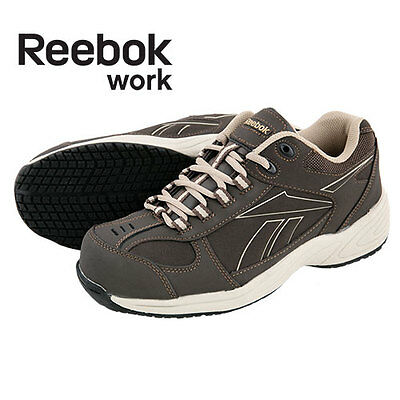 Reebok Composite Toe Brown/Taupe Work Shoes - Men's 6.5