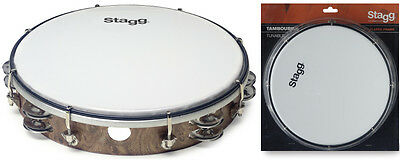 "10"" accordable Tambourin, Couleurs bois"