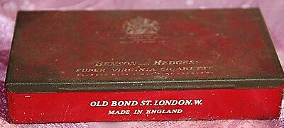 Benson and Hedges Super Virginia Cigarette tin and other old tin x two old tins