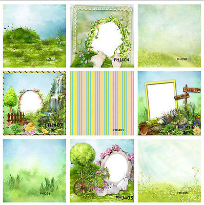 Easter Scenery Thin Vinyl Photography Backdrop Background Studio Prop 5X7FT