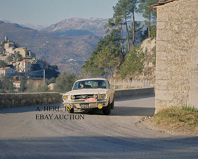 Ford Mustang 1964 - new car Monte Carlo Rally photograph 1964 –photo