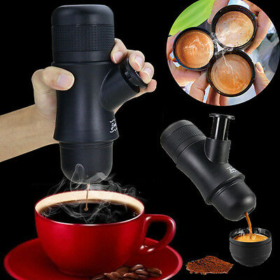 Portable Manual Ground Coffee Machine Set Espresso Maker Travel Mug Cup