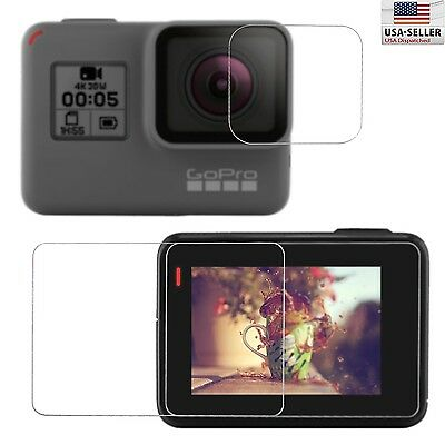 Tempered Glass Screen Protector Guard Film For GoPro Hero 5 Screen and Lens