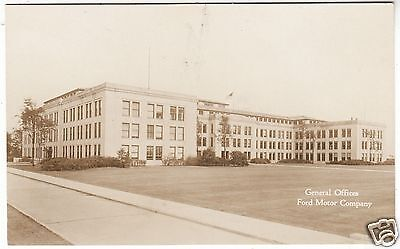 FORD MOTOR COMPANY - Car Factory Offices -  c1930s era Real Photo postcard