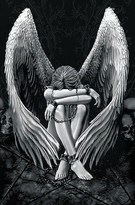 "Gothic Fallen Angel in Chains CANVAS ART PRINT 8""X10"" poster"