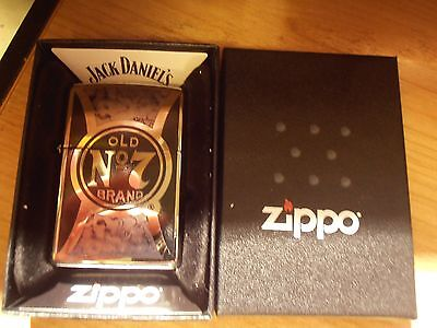 Zippo Lighter Jack Daniels Old No 7 Chrome & Black BN&S